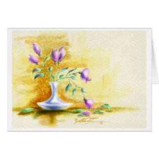 Flores para la mamá tarjeta de felicitación