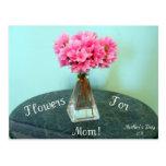 Flores para la mamá tarjeta postal