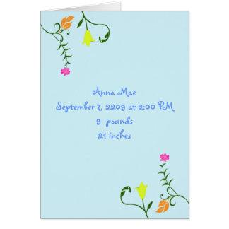 Flores para la tarjeta de la invitación del bebé