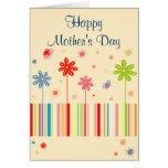 Flores para la tarjeta del día de madre
