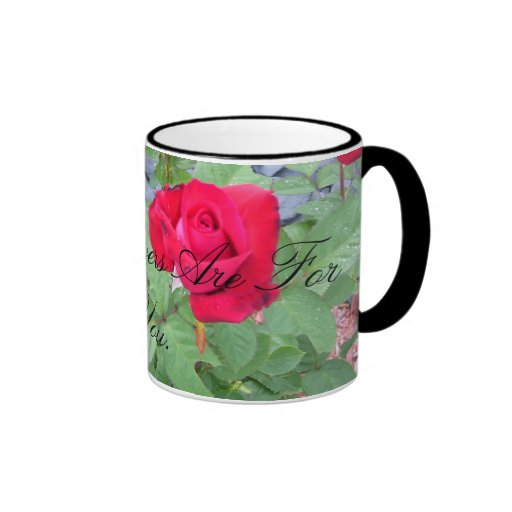 Flores para usted tazas de café