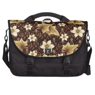 Flores pasadas de moda bolsas de portátil