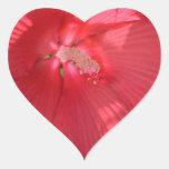 flores pegatina corazon