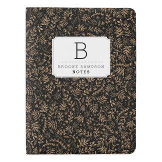 Flores personalizadas de la cosecha del | cuaderno extra grande moleskine