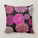 Flores personalizadas personalizado de la púrpura  almohadas