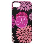 Flores personalizadas personalizado de la púrpura  iPhone 5 funda