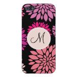 Flores personalizadas personalizado de la púrpura  iPhone 5 cárcasas