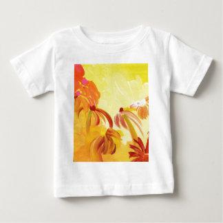 Flores pintadas a mano bonitas camisetas