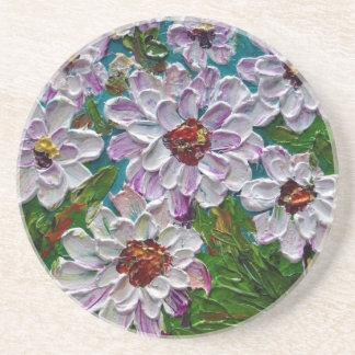 Flores pintadas a mano de la dalia posavasos manualidades