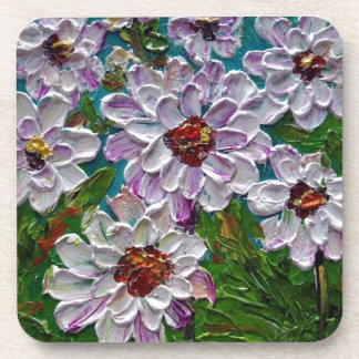 Flores pintadas a mano de la dalia posavasos de bebida