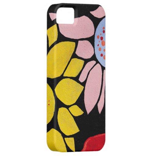 Flores pintadas de la margarita iPhone 5 Case-Mate carcasas