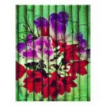 Flores Pintadas no Bambu Papel De Carta Personalizados