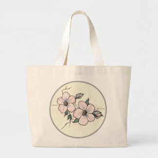 Flores pintados a mano bolsas de mano