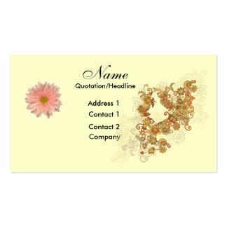 Flores/plantilla artística de la tarjeta gráfica tarjetas de visita