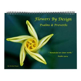 Flores por diseño - salmos y proverbios calendario de pared