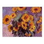 Flores por la postal de Claude Monet