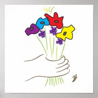 flores póster