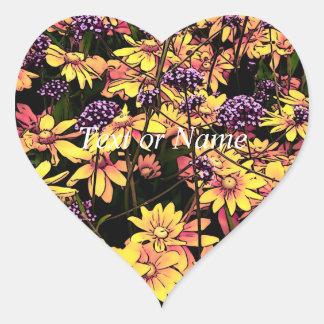 flores preciosas 06 del jardín calcomanía de corazón personalizadas