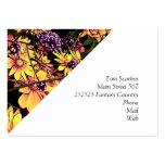 flores preciosas 06 del jardín tarjeta de visita