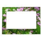 flores preciosas del jardín, 03 marcos magneticos de fotos