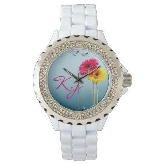 Flores preciosas reloj