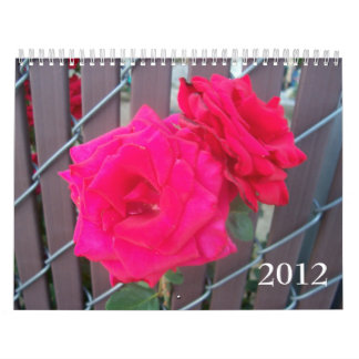 Flores preferidas calendario de pared