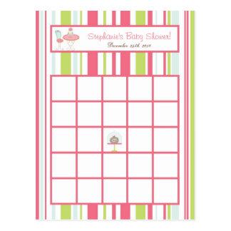 Flores programables del pastel del rosa de la fies tarjetas postales