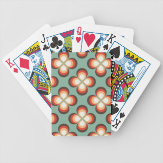 Flores psicodélicas barajas de cartas