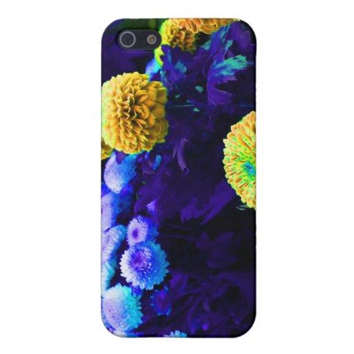 Flores psicodélicas del estallido iPhone 5 carcasa