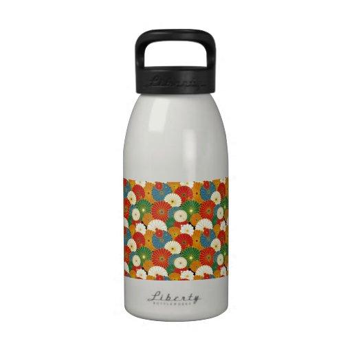 Flores psicodélicas maravillosas botella de beber