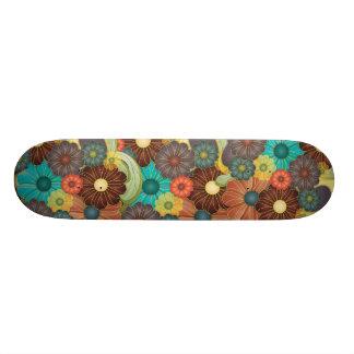 Flores psicodélicas patín personalizado