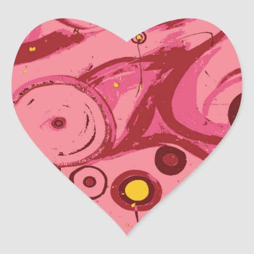 Flores punkyes calcomania corazon personalizadas