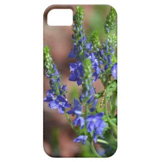 flores Púrpura-azules con la abeja iPhone 5 Case-Mate Protector