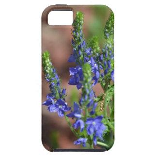 flores Púrpura-azules con la abeja iPhone 5 Carcasas