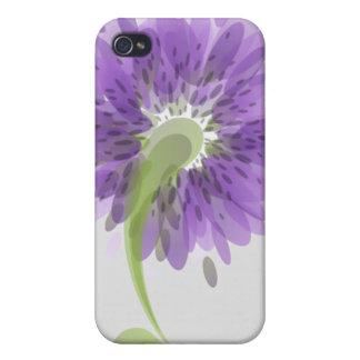 Flores púrpuras abstractas iPhone 4/4S fundas