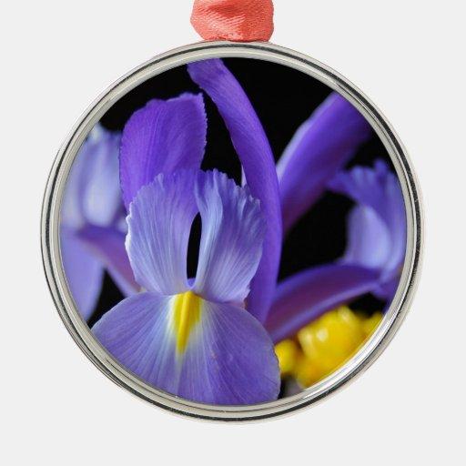 Flores púrpuras adorno de navidad