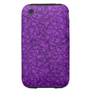 Flores púrpuras Amethyst florales de la uva del Funda Though Para iPhone 3