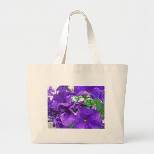 Flores púrpuras bolsa