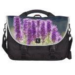 Flores púrpuras bolsas para ordenador