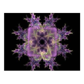 Flores púrpuras bonitas tarjeta postal