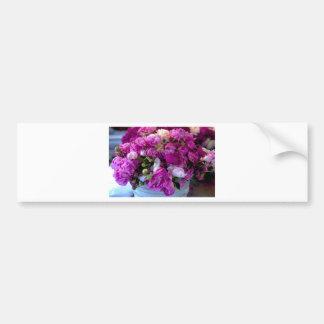 Flores púrpuras pegatina para auto