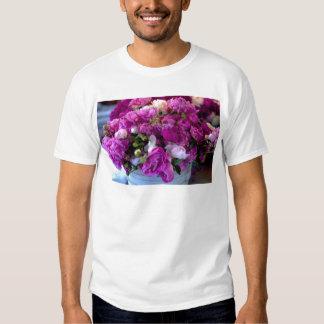 Flores púrpuras camisas