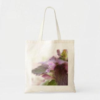 Flores púrpuras de Deadnettle Bolsa Tela Barata