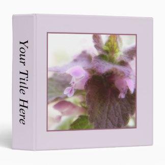 """Flores púrpuras de Deadnettle Carpeta 1 1/2"""""""