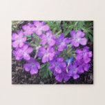 Flores púrpuras de la abundancia puzzle