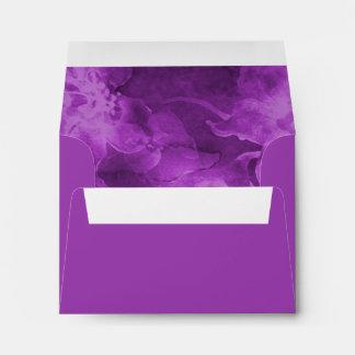 Flores púrpuras de la acuarela de RSVP Sobres