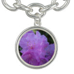 flores púrpuras de la azalea de la primavera pulseras con dijer