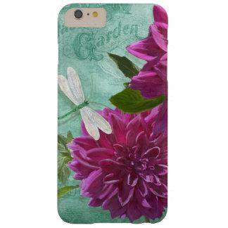 Flores púrpuras de la dalia de la placa de cena de funda de iPhone 6 plus barely there