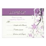 Flores púrpuras de la rama de la magnolia que casa anuncios personalizados