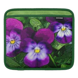 Flores púrpuras de la viola manga de iPad